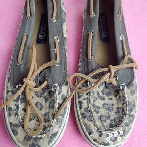 Sperry Top-Sider Women's Slip On Leopard Print Lac
